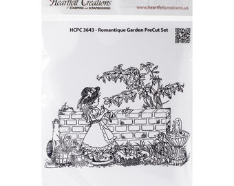 Heartfelt Creations Cling Rubber Stamp Set ~ Romantique Garden, HCPC3643 ~ RETIRED!