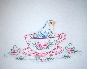 Bird in Tea Cup