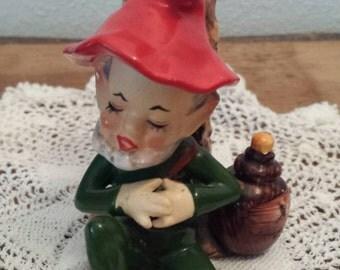 Elf Ceramic Figurine   Vintage   Kitsch