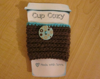 Ribbed Cup Cozy ~ Crochet