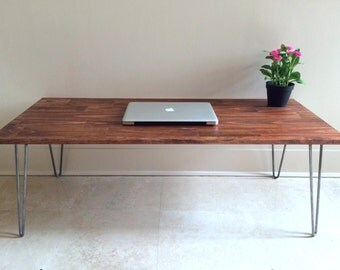 36x16 Very Small Coffee Table On Hairpin Legs By Goldenrulenyc