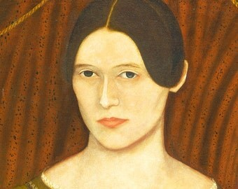 Martha, American Folk Art Oil Painting Print