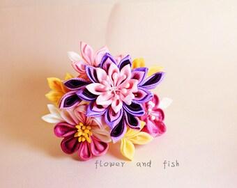 Accessories,hair accessories, -Kanzashi flower- floral hair stick,Kanzashi-kanzashi hair stick-janpanese hair stick