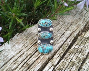 SALE Triple American turquoise ring