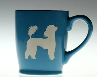 Poodle dog etched ceramic coffee mug, dog gift, poddle gift, dog glass, dog mug,dog gift,dog lover,coffee gift