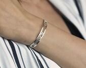 Coordinate Bracelet, Coordinate Bangle, Roman Numeral Bangle, Roman Numerals Bracelet