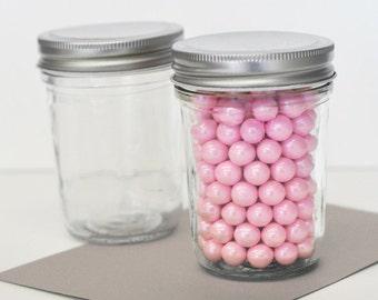 Vintage Mini Mason Jars (12ct) - Mini Glass Jar - Favor Mini Glass - Glass Mason Jar - Party Favor Glass Jar - Candy Jar (EB2310NP)