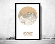 HOBART - city poster - city map poster print