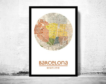 BARCELONA - city poster - city map poster print