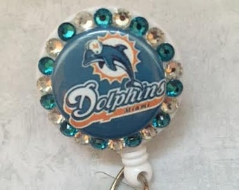 Bling Retractable Badge Reel - Sports ID Badges - Football Badge Holder Alligator Swivel Pinch Clip - Nursing Badge Clip