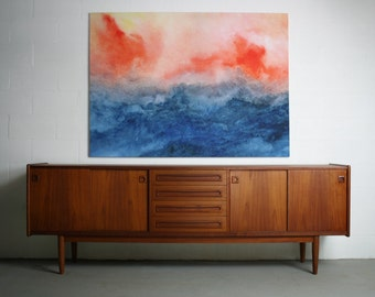 MASSIVE Danish Modern Credenza in Teak Approximately 8 FEET LONG Attributed to Poul Hundevad