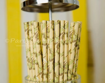 Army Camo Paper Drinking Straws,Great Prices Quality Service,Boy Party Straws,Military Paper Straws,Military Party Straws,