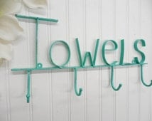 Towel Rack-You Pick Color/ Wall Rack/Towel Hook/Bath Hook/Bathroom Rack/Towel Holder/Towel Hanger/SSLID0125/Pool Towel//Bathroom/ Wall Rack