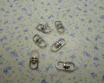 100pcs silver gray color 19*8mm metal swivel key ring connector , rotatable connector key clasp , CM2051