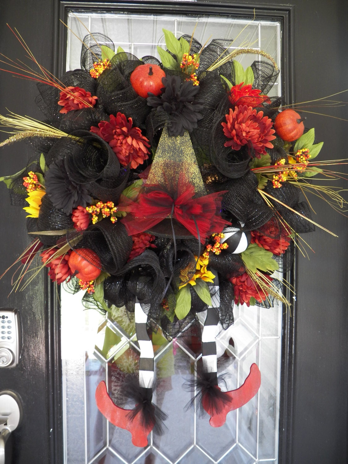 Wicked Witch Halloween Decorations Halloween Wreath Wicked Witch
