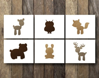 Baby Forest Animals - Printable Nursery Art - Instant Download - Forest Animal Nursery - Woodland Nursery Art - Baby Animal Prints