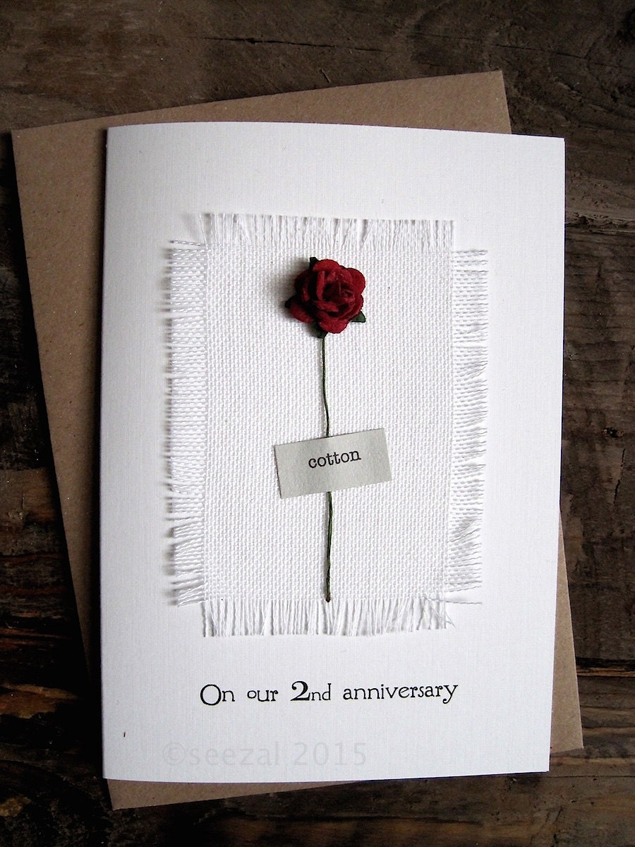 Cotton Wedding Anniversary Gift Ideas For Wife : Ideas Gift For Second Wedding Anniversary second anniversary etsy 2nd ...