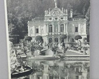 Vintage linderhof castle souvenir booklet