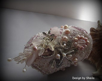 Pink Bouquet - Bridal Cuff