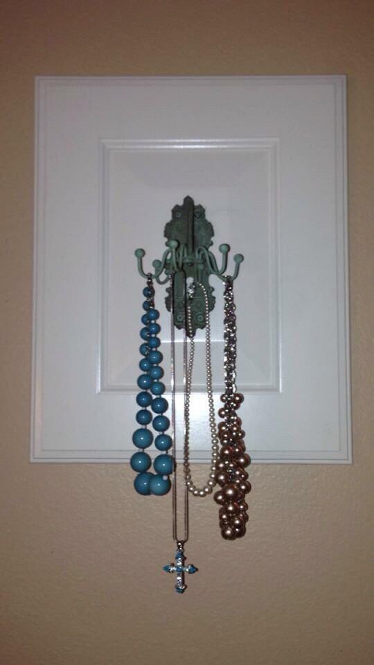 Jewelry rack jewelry display shabby chic decor jewelry for Bathroom jewelry holder