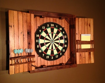 Rustic Dartboard Cabinet - Reclaimed Barn Wood, Home Decor, Home & Living-MADE TO ORDER
