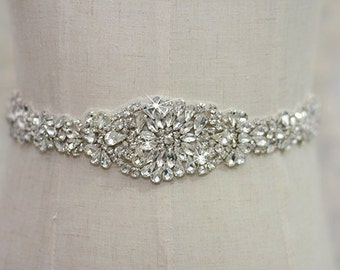 bridal sash, rhinestone sash, bridal belt, wedding sash, wedding belt, crystal bridal sash