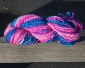 Handspun Hand-Painted Yarn - Merino Wool - 4 oz., 120 g., 80 yards - Wildflower Meadow (Stage 2) - Bulky Weight