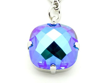 BLUE LAGOON 16mm Pendant *DISCONTINUED* Made With Swarovski Elements *Pick Your Finish *Karnas Design Studio *Free Shipping*