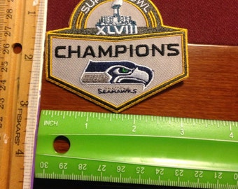 Seahawks patch superbowl