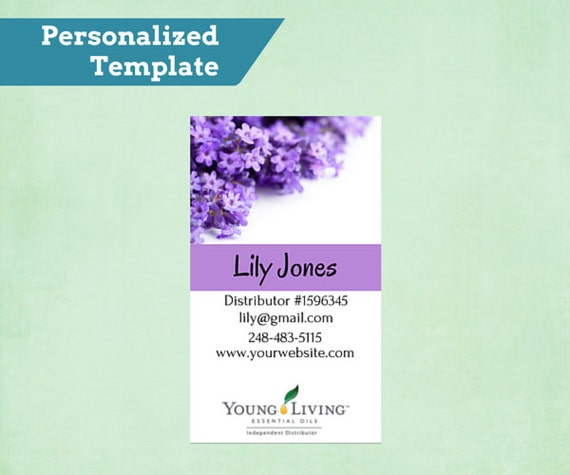 Essential Oil Business Card Design for Independent