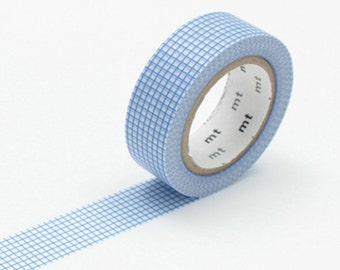 Sky Blue Grid Washi Tape - MT 'Hougan Sora ' Washi Tape