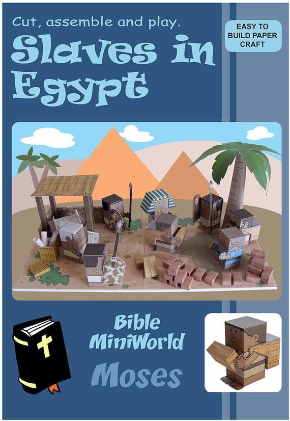 bible miniworld paper toys slaves in egypt by papercraftstoys