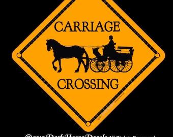 Carriage Crossing 12x12 Aluminum Sign