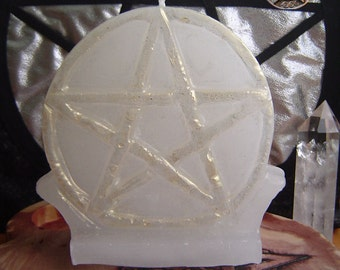 Large Pentagram Altar candle
