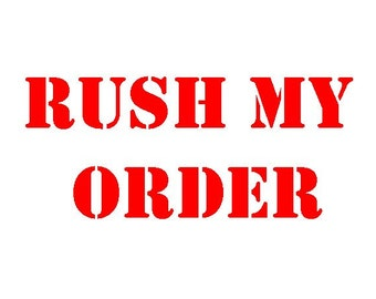 T-Shirt Rush Order Handling and Postage Upgrade