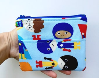 Superhero Wallet/Boys Wallet/Kids Wallet/Super Hero Coin Purse/Ready to Ship