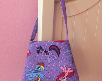 My Little Pony Toddler Purse/Little Girls Purse/MLP Rainbow Dash Twilight Sparkle Pinkie Pie Toddler Purse/The Bell Purse/Ready to Ship