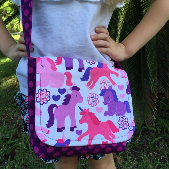 ... Unicorns and Dots/Unicorn Purse/Toddler Purse/Little Girls Purse