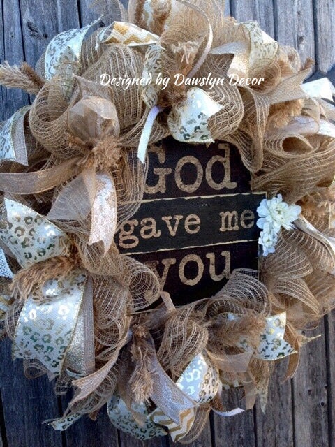 Wedding Wreath Deco Mesh Wreath Burlap Wreath Valentine S