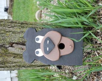 Birdhouse - Bear Face, cute and rustic!