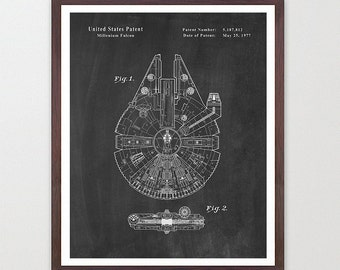 Star Wars - MIllenium Falcon - Star Wars Patent - Star Wars Poster - Star Wars Art - MIllenium Falcon Patent - Star Wars Wall Art - Falcon