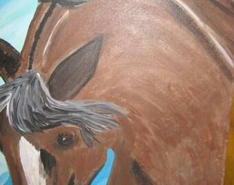 QUARTER HORSE STALLION - Unframed