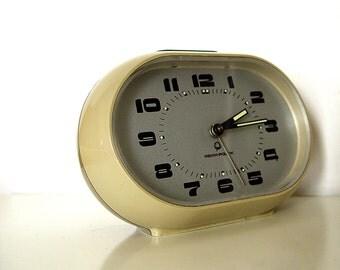 Retro Poland bedside mechanical alarm clock.