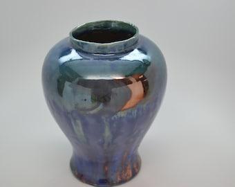 Blue Raku Vase
