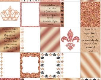 ROSE GOLD  for use with Erin Condren Life Planner (vertical) - digital - Instant Download