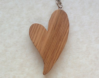 Oak Love Heart Bag Charm