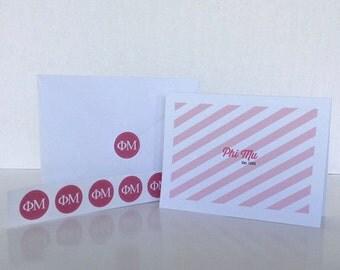 Phi Mu Notecard Gift Set