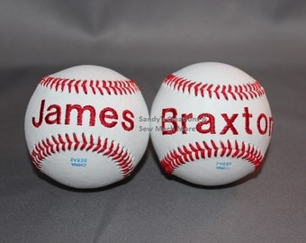 Embroidered BaseBall with One Name