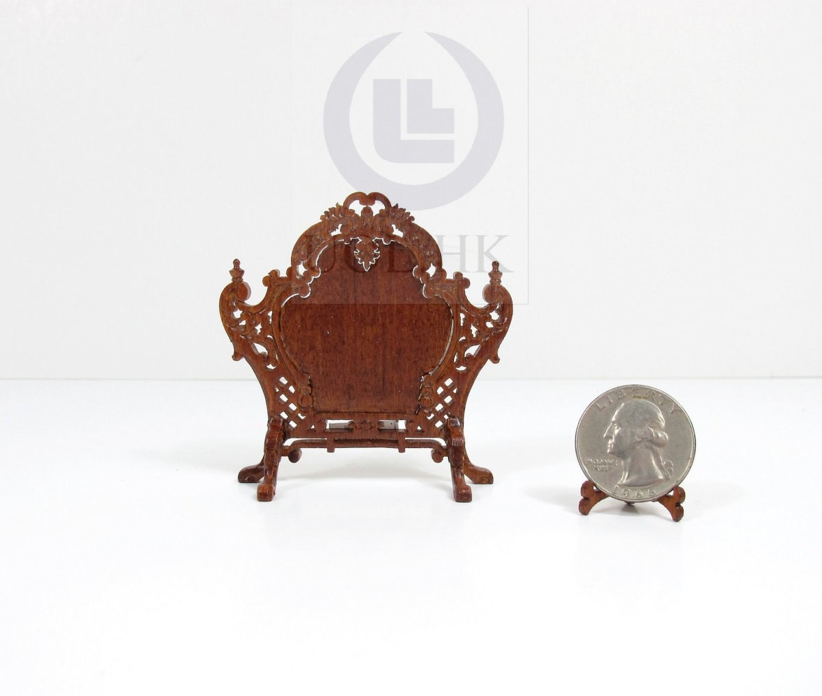 Dollhouse Miniatures St Louis: 10% OFF 1:12 Scale Miniature Louis XV Style Fire Screen For