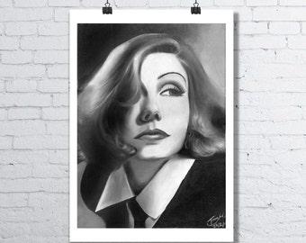 Greta Garbo - A3 Art Print